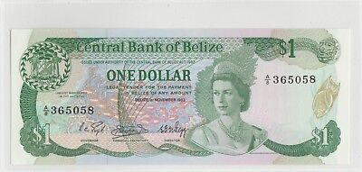 Key Year 1983 Central Bank of Belize One Dollar Gem-Uncirculated
