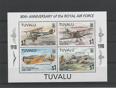 Tuvalu, Michel-Nr. Block 63 postfrisch ** Royal Air Force, Flugzeuge (1998)