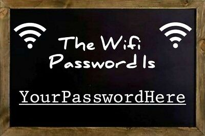Wifi Password Fridge Magnet. Personalised, Your Home or Work Hub