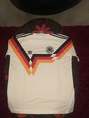 West Germany  Retro Football Soccer Shirt Home 1990 World Cup Medium