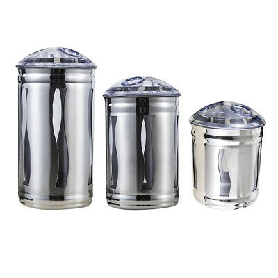 Stainless Steel Tea Coffee Sugar Canisters Storage Jars Containers Tins