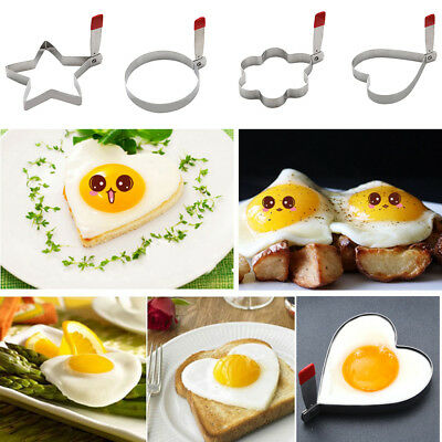 Novelty Fried Egg Frying Mould Stainless Steel Party Egg Pancake Rings