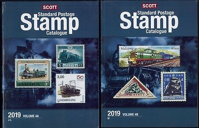 2019 Scott Postage Stamp Catalogue Worldwide Countries J-M Volume 4 (4A-4B) Set