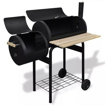 Classic Charcoal BBQ Offset Smoker Patio Backyard Home Meat Cooker Camp  Grilling