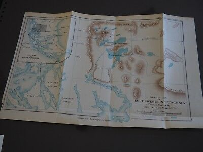"Antique Map ""Sketch Map of South-Western Patagonia From a Survey by Nordensklold"
