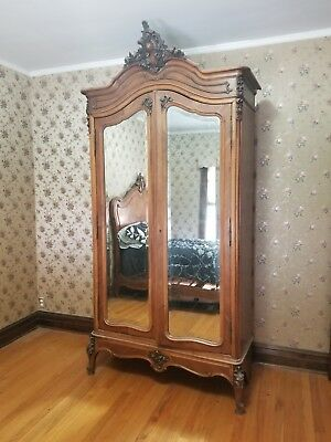 Excellent Condition 19th Century French Armoire and matching full bed