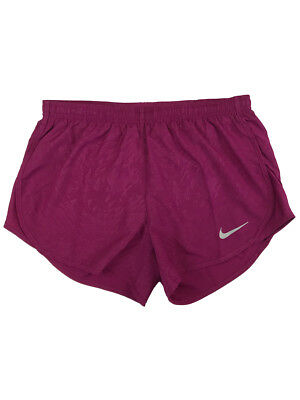 Nike Womens Dri-Fit Modern Embossed Tempo Running Shorts w/Liner Purple New