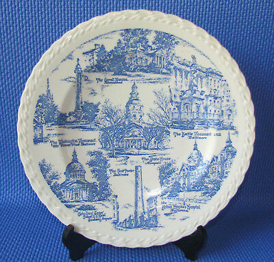"""1940 Lycett Dept Store Plate- """"My Maryland"""" Sketches- Vernon Kilns (Baltimore)"""