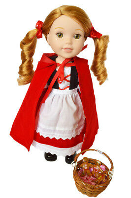 Little Red Riding Hood Outfit for Wellie Wisher Dolls