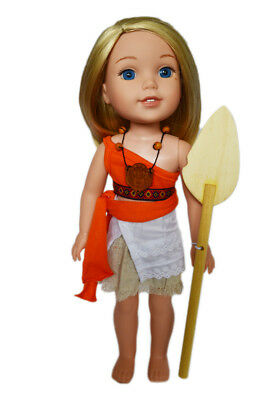 Moana Inspired Outfit for Wellie Wisher Dolls
