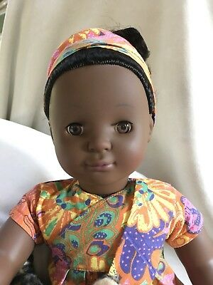 "Pottery Barn Kids ZOLA African 18"" Doll Götz Special Edition"