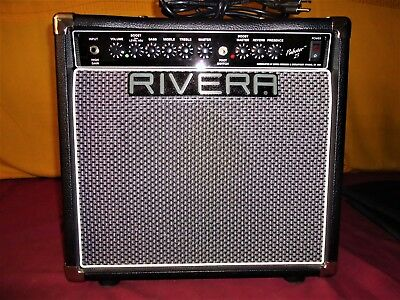 Very Nice Rare OOP Rivera Pubster 25 Reverb Combo Guitar Amplifier & Logo Cover