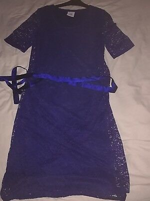 Maternity Dress Size10 Wedding Party Evening Formal mama-lisious electric blue