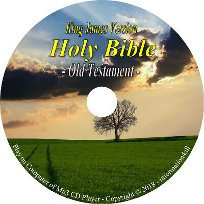 KJV Audio Bible King James Version Old New Testament 66 Books on Mp3 CD