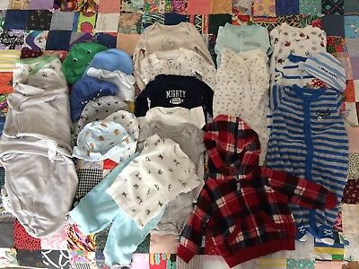 carters, baby boy new born outfit, one pieces, sleepwear, jacket & swaddles 22pc