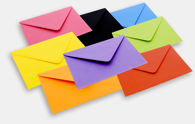C5 Coloured Envelopes 162mmx229mm For Greeting Cards Party Invitations & Crafts