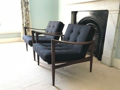 A pair of beautiful antique danish armchairs