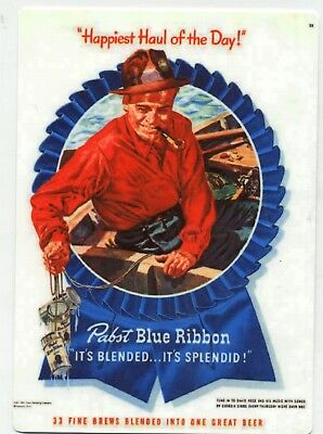 Pabst Blue Ribbon Beer-  Fishing Sign 1950s design - Haul of the Day - PBR Bier