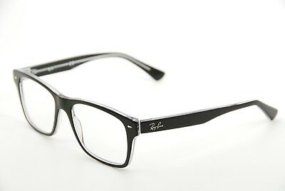 New Authentic Ray Ban RB 5308 2034 Black/Transparent 53mm Frames Eyeglasses RX