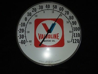Vintage valvoline advertising thermometer