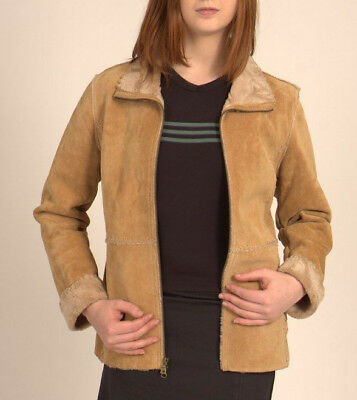 GUESS Jacket GENUINE LEATHER Coat NATIVE AMERICAN Style WOMENS Sz M