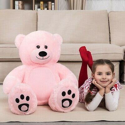 Giant Huge Teddy Bear Stuffed Plush Animals Toy Pink Valentine Birthday Gift 47""