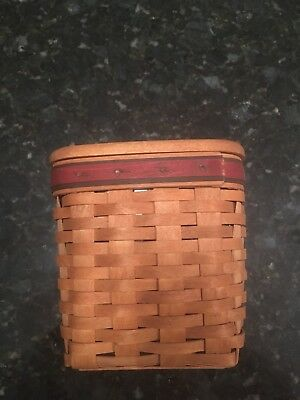 Longaberger 1994 Fathers Day Tissue Basket box Plastic Liner Lid With Papers