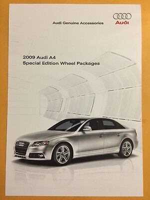 2009 Audi A4 Special Edition Wheels Package Sales Brochure.