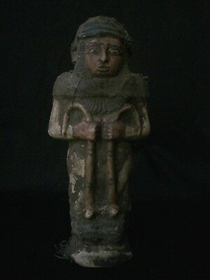 Rare ANCIENT EGYPT Shabti EGYPTIAN Antique STATUE USHABTI Luxor STONE 1458 BC