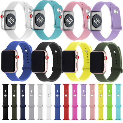 Replacement Silicone Sports Band Straps For Apple Watch 4321 38Mm 42Mm 40Mm 44Mm