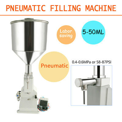 A02 Pneumatic Liquid Paste Filling Machine 5~50ml  Cream Shampoo Cosmetic