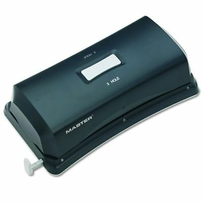 Master EP323 15-Sheet Duo Electric/Battery Punch, Two- and Three-Hole Fixed