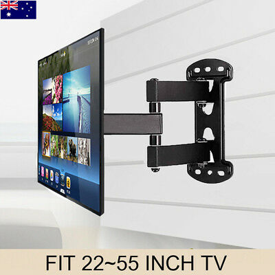 "32-55"" Solid Arm Slim TV Wall Mount Bracket fr Sony Samsung LG Panasonic Philips"