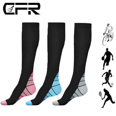 CFR 15-30mmHg Medical Compression Socks Support Stockings Travel Flight Socks