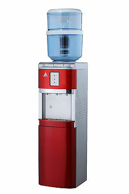 Awesome Aimex Water Floor Standing Hot Cold and Ambient Dispenser In Red
