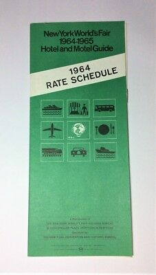 New York World's Fair 1964-1965 Vintage Hotel and Motel Guide