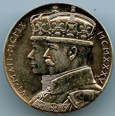 1935 Great Britain George V Official Silver Jubilee Medallion! Xf!