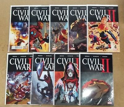 Civil War Ii 0,1-8 First Prints Marvel Comics Nm Complete Set Run Bendis