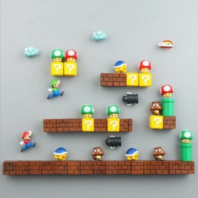 2018 FC gba DIY  MARIO Brothers Anime action figure Magnet puzzle Magnetic toys