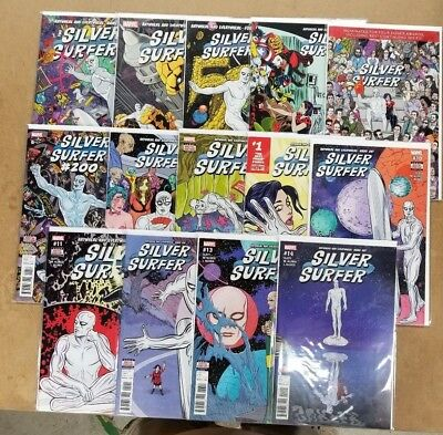 Silver Surfer 1-14 First Prints Marvel Comics Nm Complete Set Run Slot Allred