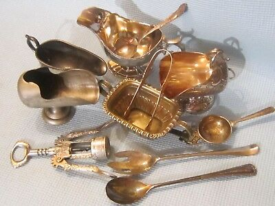 Mixed Lot of 11 Vintage Silverplate Items.