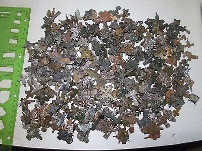Metal detector finds.Fragments ancient crosses (The age of 12-19) 400 Fragments.