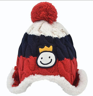 Baby Kids Beanies 100% Pure Cotton Soft Warm Winter Knitted Cap Hat Girls Boys