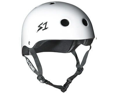 S1 Helmet Lit Collab White Gloss Scooter Certified Helmets and Protection Gear