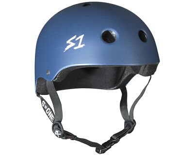 S1 Helmet Lit Collab Navy Matte Scooter Certified Helmets and Protection Gear