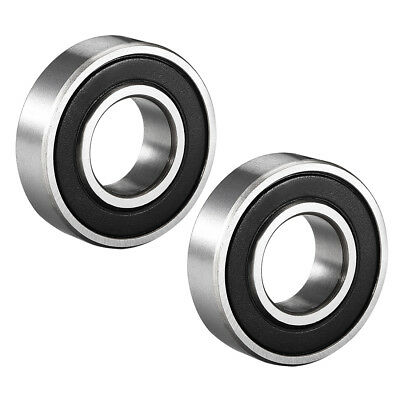 Deep Groove Ball Bearing 6002RS Double Sealed, 15mmx32mmx9mm Carbon Steel 2Pcs
