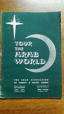 Rare Antique Tour The Arab World Travel Guide May 1957
