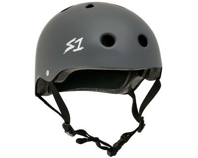 S1 Helmet Lit Collab Grey Matte Scooter Certified Helmets and Protection Gear