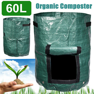 60L Organic Kitchen Composter Waste Converter Bin Compost Storage Garden Supply
