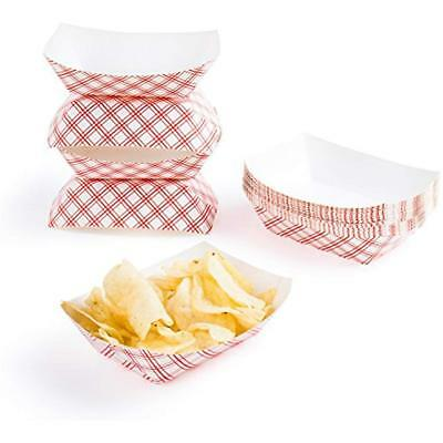 50pc Disposable Paper Food Tray X Design Super Bowl  Nacho Trays BULK LOT